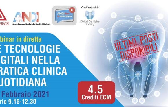 Tecnologie digitali e odontoiatria, il 27/02 il webinar ANDI