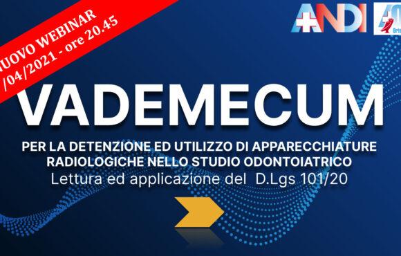 Radioprotezione, martedì 27/04 si replica il webinar di ANDI Pavia